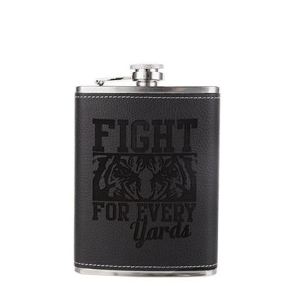 Picture of FLASK 8oz - PU Cover (Black)