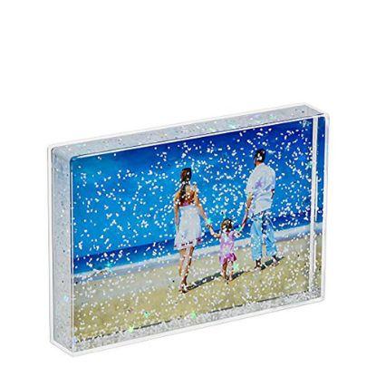 Εικόνα της Acrylic Photo Block (Rectangle-10x15cm) CLEAR with White Snow