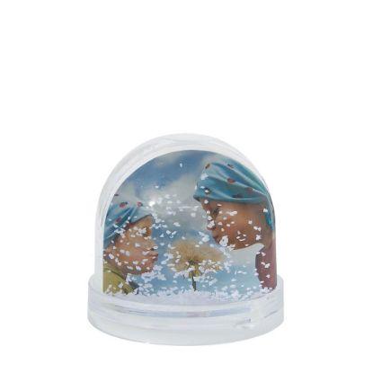 Εικόνα της Acrylic Photo Block (Globe-7x6.3cm) CLEAR with White Snow
