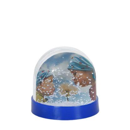 Εικόνα της Acrylic Photo Block (Globe-7x6.3cm) BLUE with White Snow