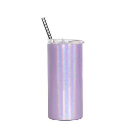 Εικόνα της Skinny Tumbler 16oz PURPLE Rainbow Sparkle