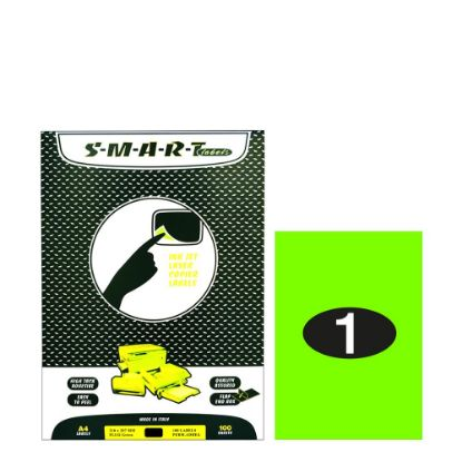 Picture of Smart Labels (210x297) 1 label Fluo Green/100sh