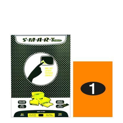 Picture of Smart Labels (210x297) 1 label Fluo Orange/100sh