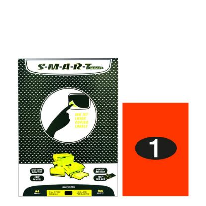 Picture of Smart Labels (210x297) 1 label Fluo Red/100sh