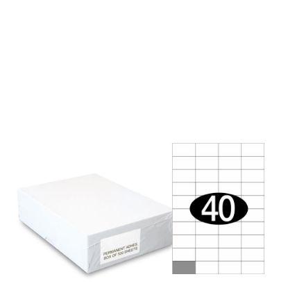 Εικόνα της Smart Labels (52.5x29.7) 40 labels White/500sh