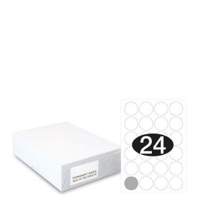 Εικόνα της Smart Labels (Diam.40) 24 labels White/500sh