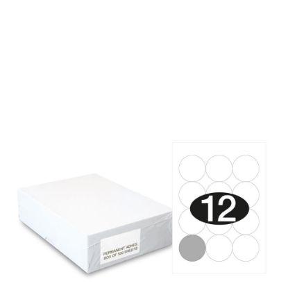 Εικόνα της Smart Labels (Diam.60) 12 labels White/500sh