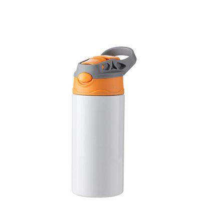 Εικόνα της Kids Bottle (360ml) WHITE Orange Cap with Silicone Straw