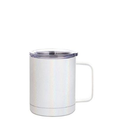 Εικόνα της Stainless Steel Mug 10oz - WHITE sparkling with Handle
