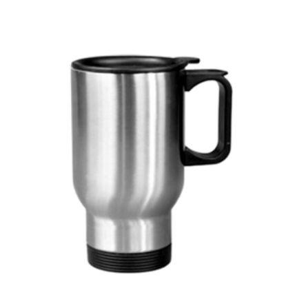 Εικόνα της Stainless Steel Mug 14oz - SILVER with Handle & Cup