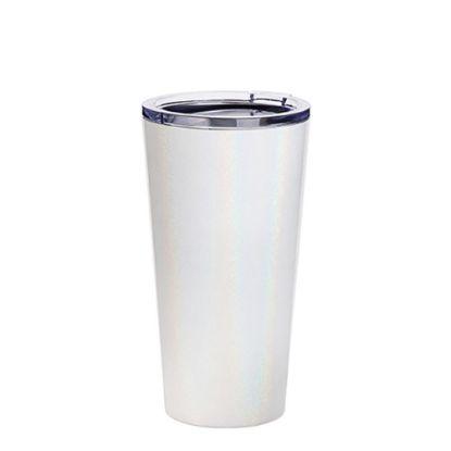 Εικόνα της Tumbler 16oz - WHITE SPARKLING with Clear Cup