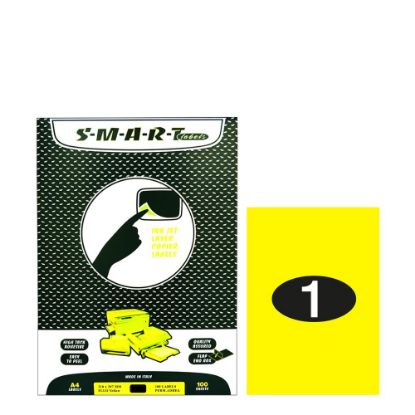 Picture of Smart Labels (210x297) 1 label Fluo Yellow/100sh