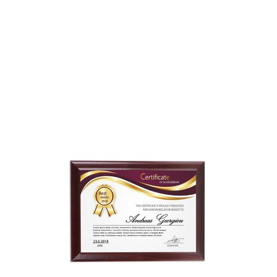 Picture of PLAQUE REC.-GLOSS WH./CHERRY ED.-  9.84x14.92