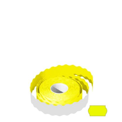 Picture of Label Rolls (22x12 mm) FLUO YELLOW permanent