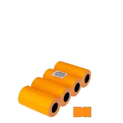 Picture of JOLLY BLISTER 20 ROLLS - 21X12 (FLUO ORANGE) PERMANENT