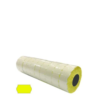 Picture of Label Rolls (Blister 22x12 mm) FLUO YELLOW permanent