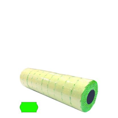 Picture of Label Rolls (Blister 22x12 mm) FLUO GREEN permanent