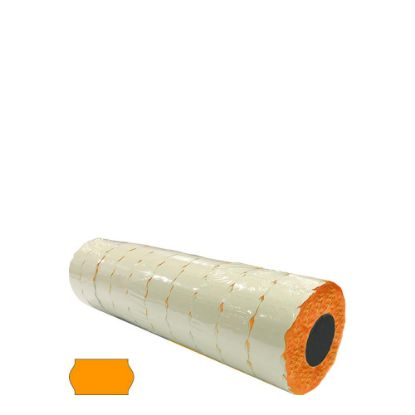 Picture of Label Rolls (Blister 22x12 mm) FLUO ORANGE permanent