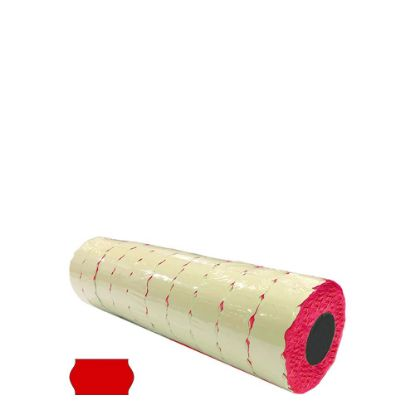 Picture of Label Rolls (Blister 22x12 mm) FLUO RED permanent