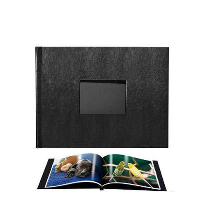Picture of Pinchbook 21.0x29.7cm Window (Black Leather) Landscape