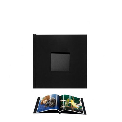 Picture of Pinchbook 20.3x20.3cm Window (Black Cloth) Landscape