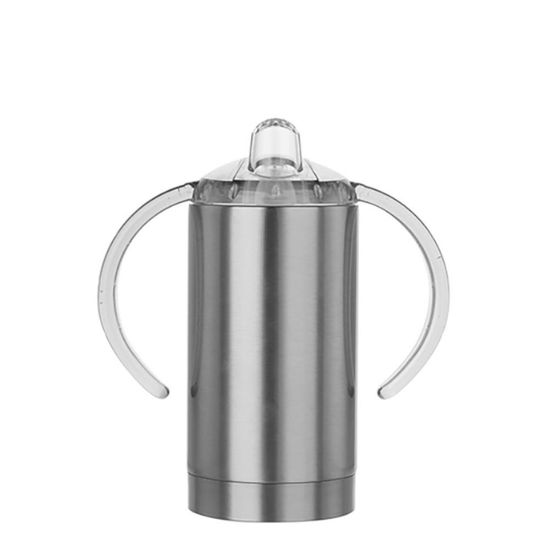 Picture of SIPPY CUP INSULATED (Straight) with Spout - 300ml SILVER