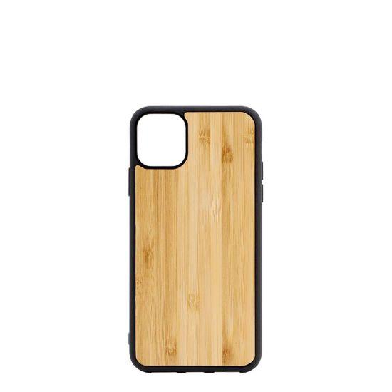Εικόνα της APPLE case (iPHONE 11) TPU BLACK with BAMBOO