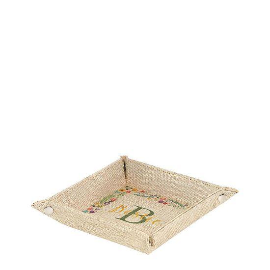 Εικόνα της Folding Tray (Burlap) 15.2x15.2x3.7cm