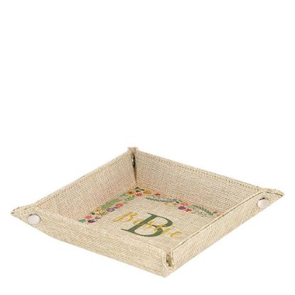 Εικόνα της Folding Tray (Burlap) 22.9x22.9x4.7cm