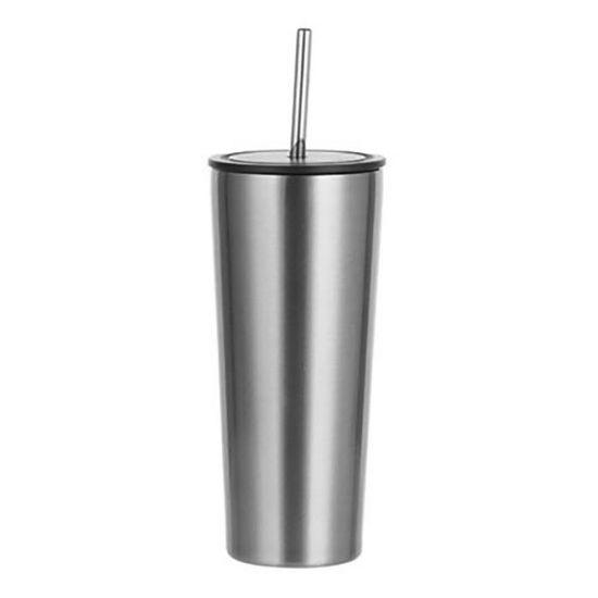 Εικόνα της Tumbler 22oz - SILVER with Black Cup & Straw