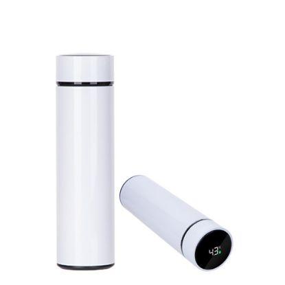 Εικόνα της Thermos Bottle 450ml (WHITE) with Temperature Display