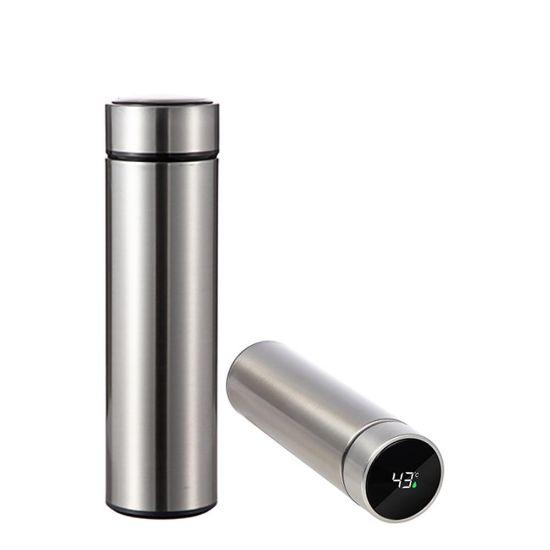 Εικόνα της Thermos Bottle 450ml (SILVER) with Temperature Display