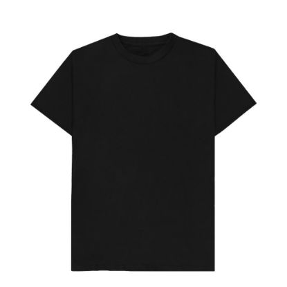 Εικόνα της Cotton T-Shirt (UNISEX Medium) BLACK 150gr