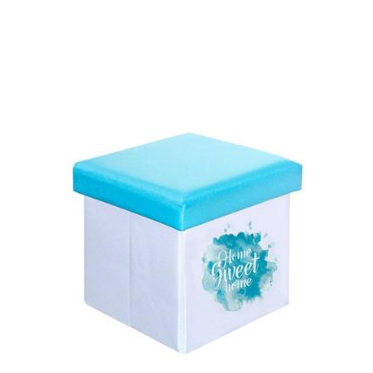 Picture of FOLDABLE STORAGE STOOL (Blue) 25x25x25cm