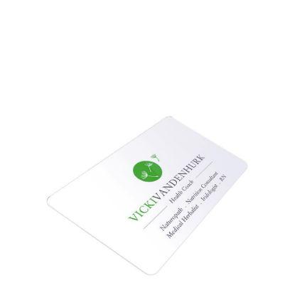 Εικόνα της Business Cards 2sided (Aluminum 1.14mm) White Gloss 8.5x5.5cm