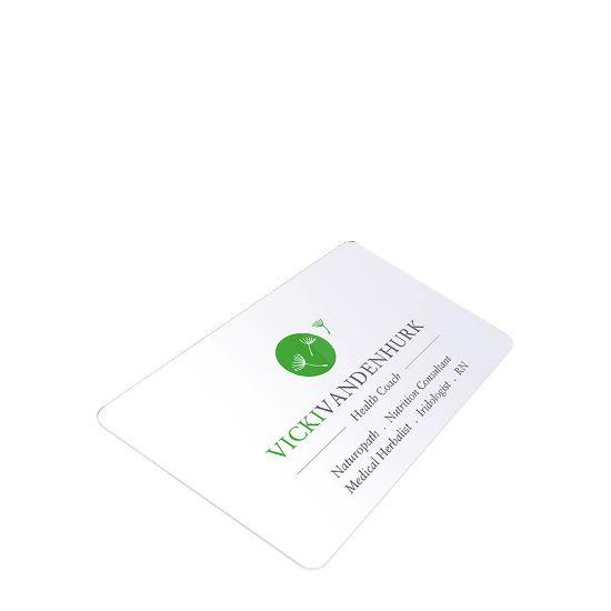 Εικόνα της Business Cards 1sided (Aluminum 1.14mm) White Gloss 8.5x5.4cm