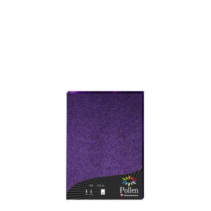 Εικόνα της Pollen PURPLE metallic A4/120gr.