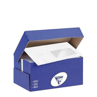 Picture of Envelopes 110x220mm (White Stick) 90gr. with right Window