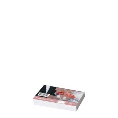 Picture of Wedding Envelopes 70x110mm (50pcs) White 80gr.