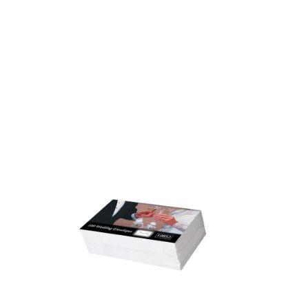 Picture of Wedding Envelopes 70x110mm (100pcs) White 80gr.