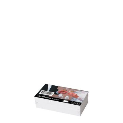 Picture of Wedding Cards 55x90mm (100pcs) White 300gr.
