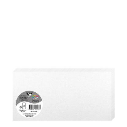 Εικόνα της Pollen Cards 106x213mm (210gr) WHITE metallic