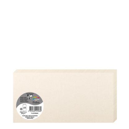 Εικόνα της Pollen Cards 106x213mm (210gr) CREAM metallic