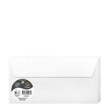 Εικόνα της Pollen Envelopes 110x220mm (120gr) WHITE metallic