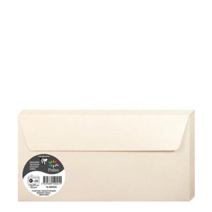 Εικόνα της Pollen Envelopes 110x220mm (120gr) CREAM metallic