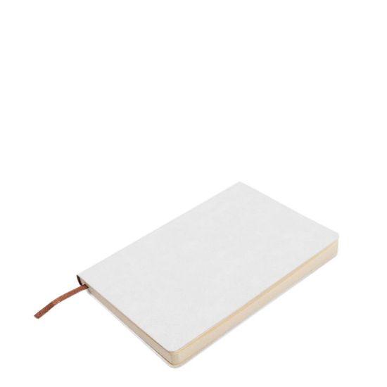 Εικόνα της PU Leather WHITE notebook (A5) 14.5x21cm