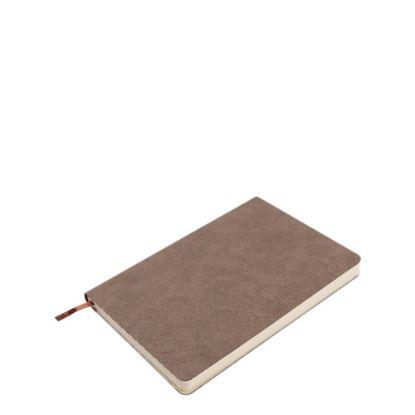 Εικόνα της PU Leather Brown Dark notebook (A5) 14.5x21cm