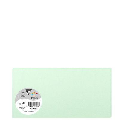 Εικόνα της Pollen Cards 106x213mm (210gr) GREEN metallic