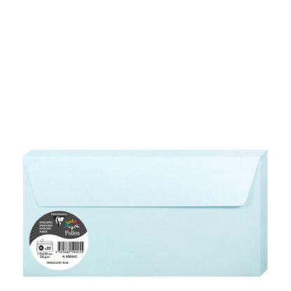 Εικόνα της Pollen Envelopes 110x220mm (120gr) BLUE metallic