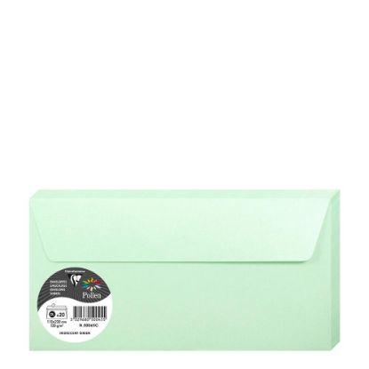 Εικόνα της Pollen Envelopes 110x220mm (120gr) GREEN metallic